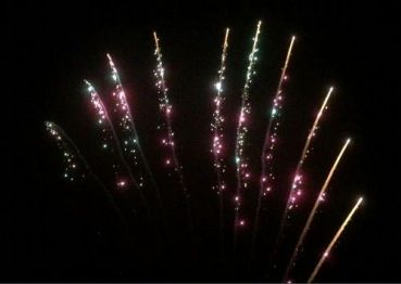 "Pyrotrade Fireworks Silvester Profi Single Rows ""Colorful Strobe Tail"" 10 Schuss"