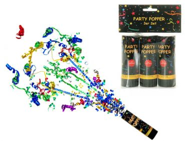 "Silvester-Party-Artikel ""Party Poppers""3er-Set"